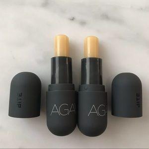 BITE Beauty Agave Vegan Daytime lip balm set 2 new